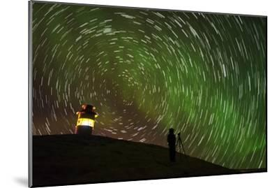 Star Trails and Aurora Borealis or Northern Lights, Iceland-Arctic-Images-Mounted Photographic Print