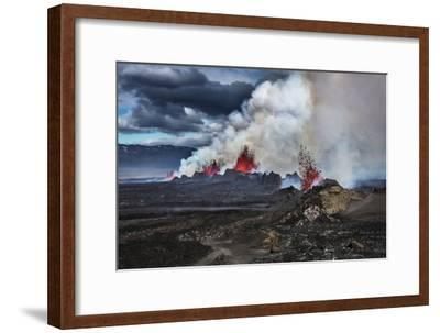 Volcano Eruption at the Holuhraun Fissure near Bardarbunga Volcano, Iceland-Arctic-Images-Framed Photographic Print