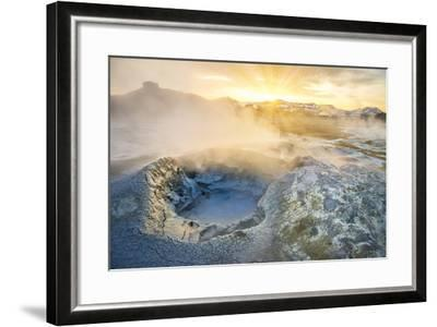 Boiling Mud Pots in Geothermal Area, Iceland-Arctic-Images-Framed Photographic Print