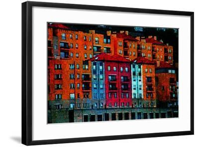 Colored Buildings-Andr? Burian-Framed Photographic Print