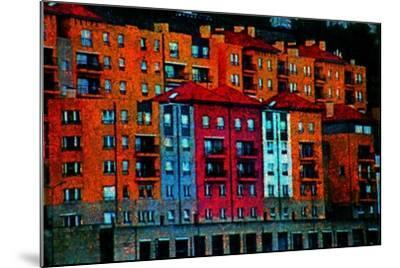 Colored Buildings-Andr? Burian-Mounted Photographic Print