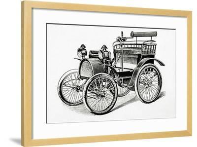Car. 19Th Century. Engraving.-Tarker-Framed Photographic Print