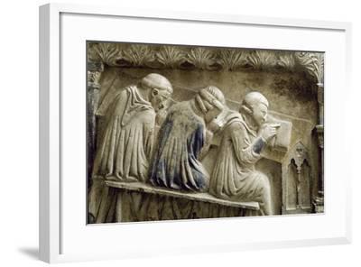 Students Attending the Lessons of Bonifacio Galluzzi--Framed Photographic Print