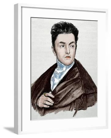 Maximilian Emanuel Von Lerchenfeld (1778-1843). Germany. Engraving. Colored.-Tarker-Framed Photographic Print