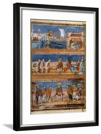 St Jerome Leaving Rome for Jerusalem - 9Th Cent. Illumination--Framed Photographic Print