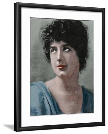 Helene Gingold (B.1867). British Novelist and Poet. Engraving,1890. Colored.-Tarker-Framed Photographic Print