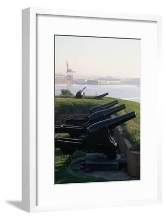 Cannons at Fort Mchenry-Paul Souders-Framed Photographic Print