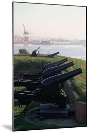 Cannons at Fort Mchenry-Paul Souders-Mounted Photographic Print