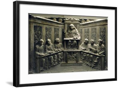Teaching at the University, from the Tomb of P.Canonici--Framed Photographic Print