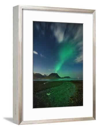 Aurora Borealis or Northern Lights, Iceland-Arctic-Images-Framed Photographic Print