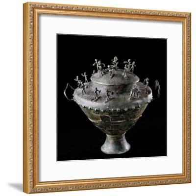 Etruscan Art : Bronze Funerary Urn--Framed Photographic Print
