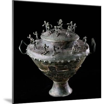 Etruscan Art : Bronze Funerary Urn--Mounted Photographic Print