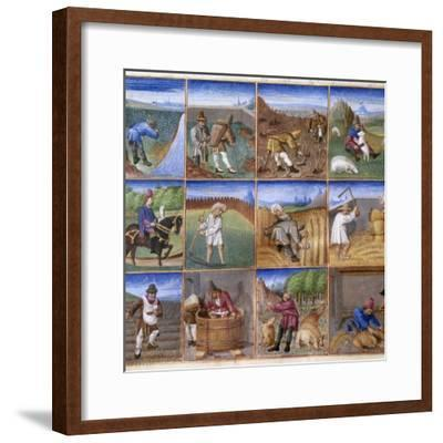 Various Agricultural Works - by Colin D'amiens--Framed Photographic Print