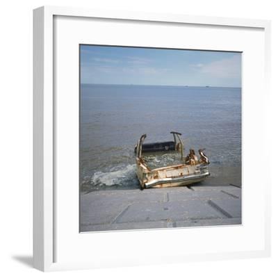 Car Wreck in Sea-Robert Brook-Framed Photographic Print