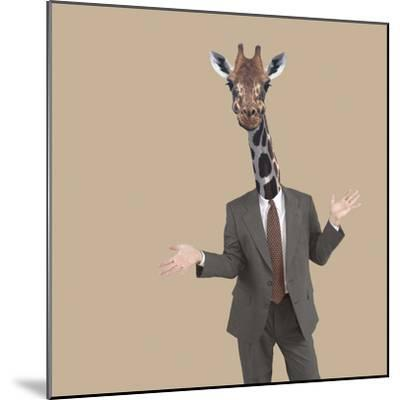Businessman Sticking Neck Out-DLILLC-Mounted Photographic Print