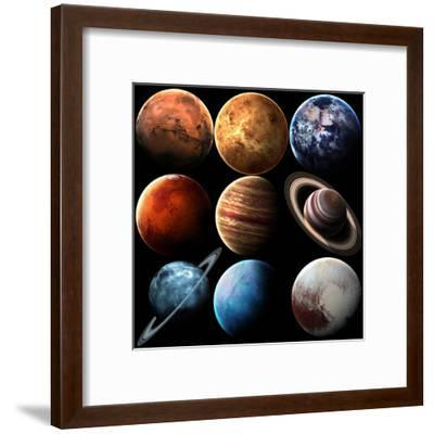 Hight Quality Isolated Solar System Planets. Elements of this Image Furnished by NASA-Vadimsadovski-Framed Art Print
