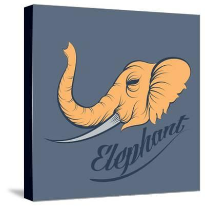 Elephant Vector- ilovecoffeedesign-Stretched Canvas Print