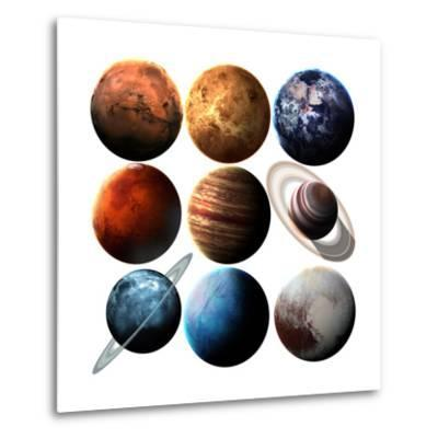 Hight Quality Isolated Solar System Planets. Elements of this Image Furnished by NASA-Vadimsadovski-Metal Print