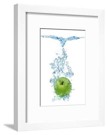 Green Apple In Water-Irochka-Framed Photographic Print