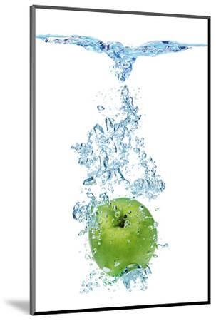Green Apple In Water-Irochka-Mounted Photographic Print