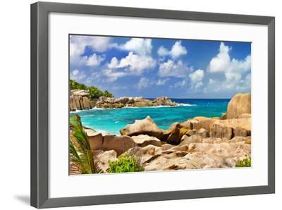 Amazing Seychelles With Unique Granite Rocks-Maugli-l-Framed Photographic Print
