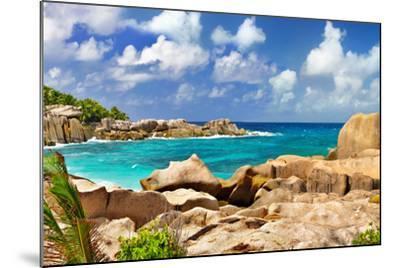 Amazing Seychelles With Unique Granite Rocks-Maugli-l-Mounted Photographic Print