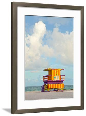 Miami Beach Florida Lifeguard House-Fotomak-Framed Photographic Print