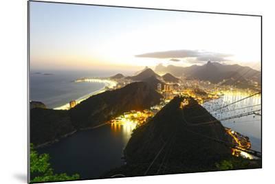 Night Panoramic View Of Rio De Janeiro-luiz rocha-Mounted Photographic Print