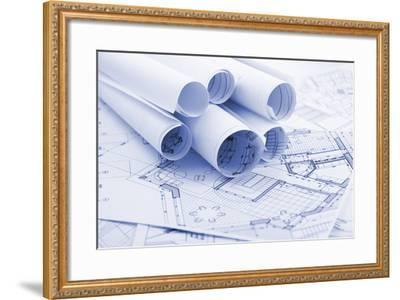 Rolls of Architecture Blueprints--Vladimir--Framed Photographic Print