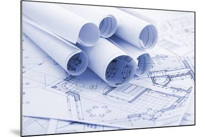 Rolls of Architecture Blueprints--Vladimir--Mounted Photographic Print