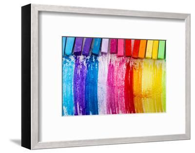 Colorful Chalk Pastels - Education, Arts,Creative, Back To School-Gorilla-Framed Photographic Print