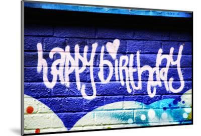 Happy Brithday In Graffiti-sammyc-Mounted Photographic Print