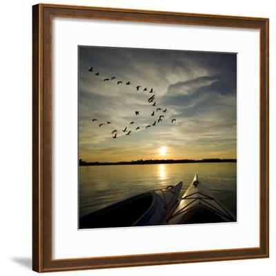 Kayaks On Lake Ontario Sunset-Gordo25-Framed Photographic Print
