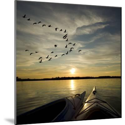 Kayaks On Lake Ontario Sunset-Gordo25-Mounted Photographic Print