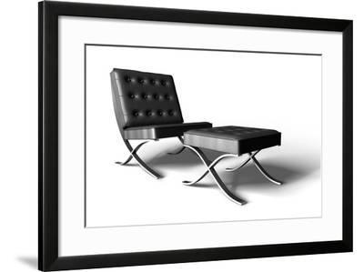 Barcelona Chair On White- cgtoolbox-Framed Photographic Print