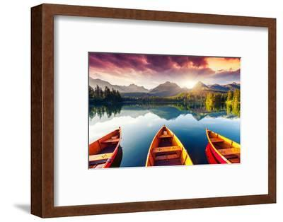 Mountain Lake In National Park High Tatra-Leonid Tit-Framed Photographic Print