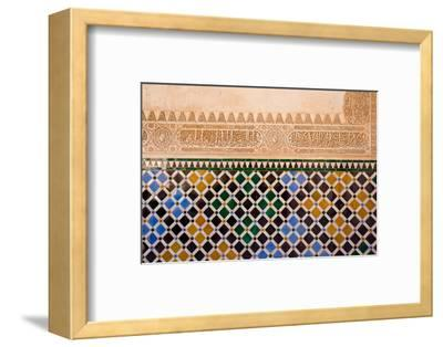 Mosaic At The Alhambra, Granada, Spain-neirfy-Framed Photographic Print