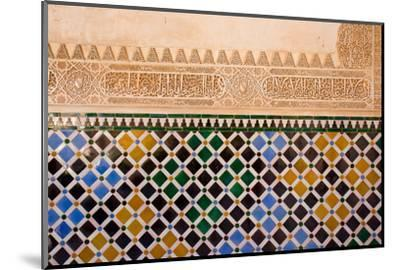 Mosaic At The Alhambra, Granada, Spain-neirfy-Mounted Photographic Print