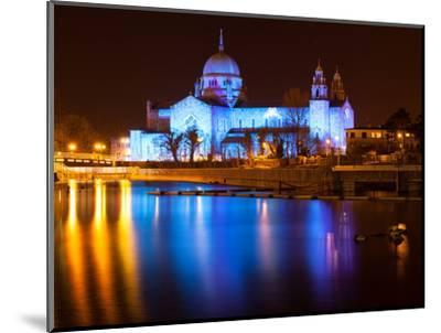 Galway Cathedral Lit Up Blue-rihardzz-Mounted Photographic Print