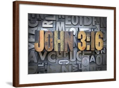 John 3:16-enterlinedesign-Framed Photographic Print