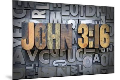 John 3:16-enterlinedesign-Mounted Photographic Print