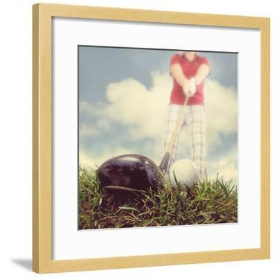 A Person Playing Golf-graphicphoto-Framed Photographic Print