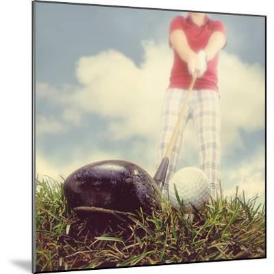 A Person Playing Golf-graphicphoto-Mounted Photographic Print