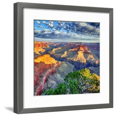 Morning Light at Grand Canyon-prochasson-Framed Photographic Print