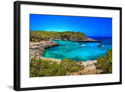 Beautiful Turquoise Bays In Stunning Mallorca-Maugli-l-Framed Photographic Print