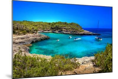 Beautiful Turquoise Bays In Stunning Mallorca-Maugli-l-Mounted Photographic Print