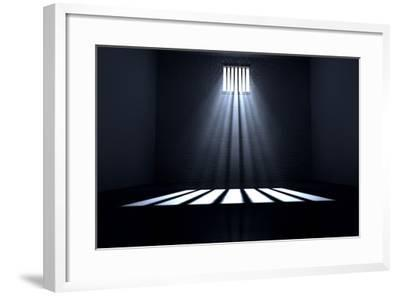 Sunshine Shining in Prison Cell Window-Inked Pixels-Framed Photographic Print