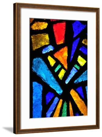 Stained Glass at the Church of the Annunciation- taln-Framed Photographic Print