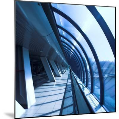 Glass Corridor In Office Centre-babenkodenis-Mounted Photographic Print