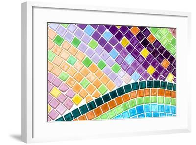 Tile Mosaic Pattern- thiroil-Framed Photographic Print